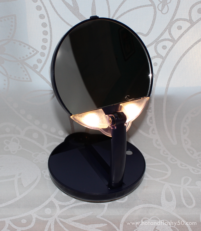 Floxite Compact 15X Lighted Travel Mirror