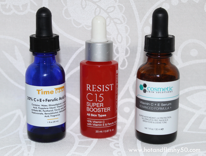 Timeless Skincare 20% C + E + Ferulic Acid Serum, Paula's Choice Resist C-15 Super Booster, Cosmetic Skin Solutions Vitamin C + E Serum Advanced Formula +