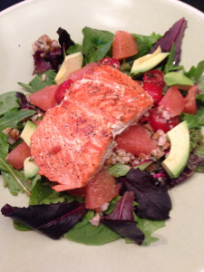 Citrus Salad with Grilled Salmon
