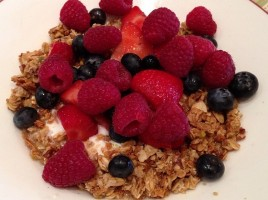 Yogurt Granola Fresh Fruit Parfait
