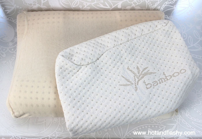 The Back-To-Sleep Pillow comes with an organic cotton cover, or there's a bamboo cover for $19.95 extra.