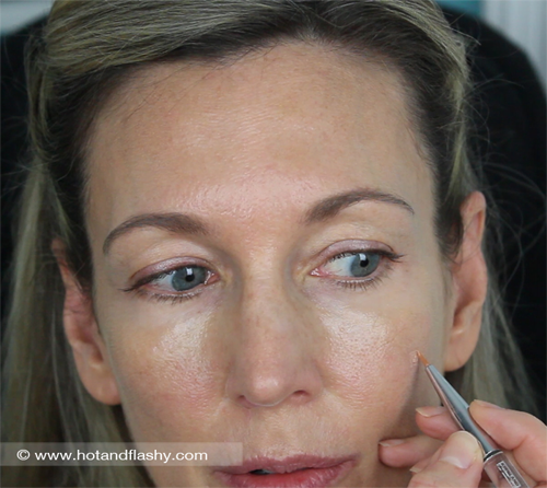 Apply Concealer with Brush
