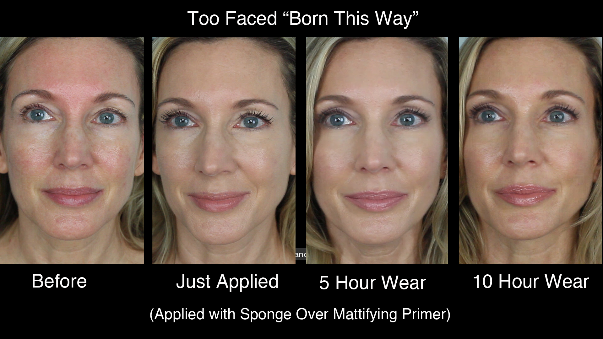 too faced concealer before and after. all day 2 sponge yt too faced concealer before and after e